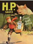 HP Sauce Metal Wall Sign Plaque 15X20cm Good With Bacon